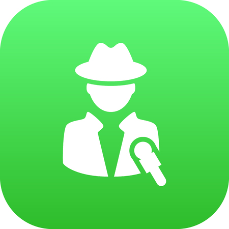 Isolated Reporter Icon Symbol On Clean Background. Vector Journalist Element In Trendy Style.