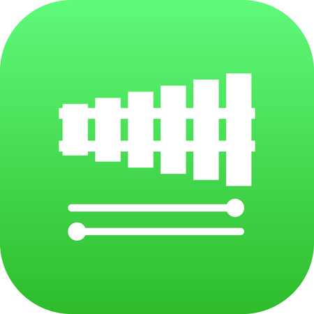 xilofono: Vector Percussion Element In Trendy Style.  Isolated Xylophone Icon Symbol On Clean Background.