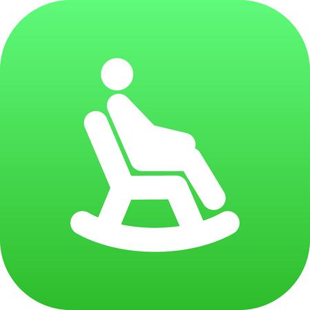 rocker girl: Hombre Aislado En Símbolo De Icono De Sillón Sobre Fondo Limpio. Vector Rocking Chair Element En Estilo De Moda.
