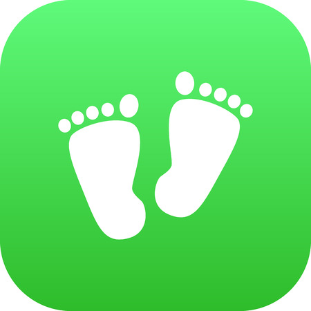Isolated Footprints Icon Symbol On Clean Background. Vector Trace Element In Trendy Style.