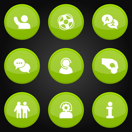 Set Of 9 Backing Icons Set.Collection Of Ball, Undertake, Talk And Other Elements. Illustration