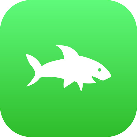 Isolated Fish Icon Symbol On Clean Background. Vector Shark  Element In Trendy Style.