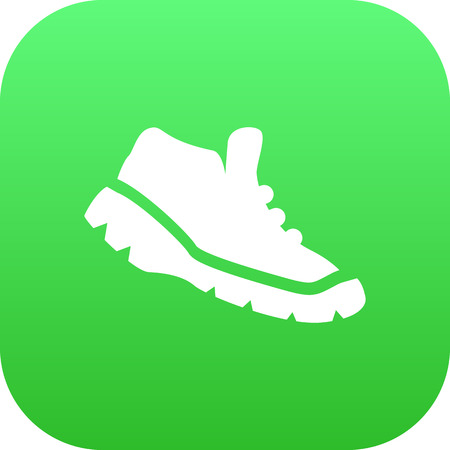 Isolated Trekking Shoes Icon Symbol On Clean Background. Vector Sneakers Element In Trendy Style. Illustration