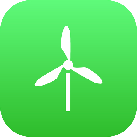 Isolated Electric Mill Icon Symbol On Clean Background. Vector Wind Energy Element In Trendy Style.