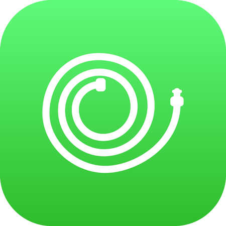 Isolated Hosepipe Icon Symbol On Clean Background. Vector Garden Hose Element In Trendy Style.