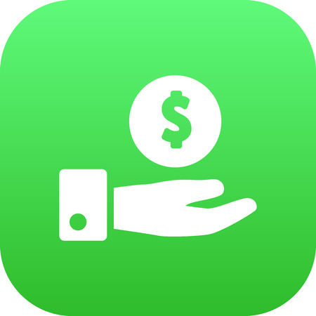 A Vector Save Money Element In Trendy Style.  Isolated Savings Icon Symbol On Clean Background.