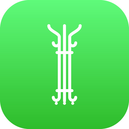 hangers: Isolated Hanger Icon Symbol On Clean Background. Vector Coat Stand Element In Trendy Style.