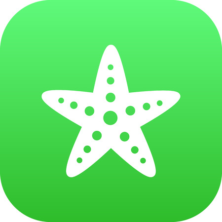 A Vector Sea Star Element In Trendy Style.  Isolated Starfish Icon Symbol On Clean Background.