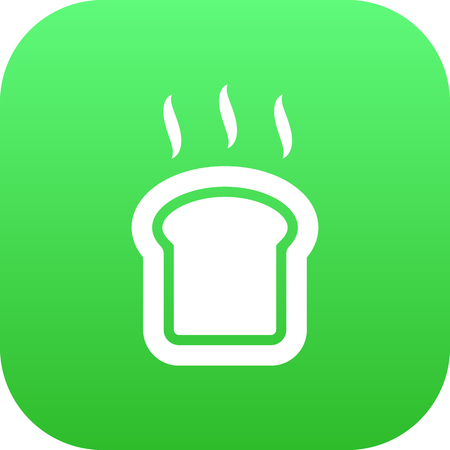 Isolated Toast Icon Symbol On Clean Background. Vector Slice Bread Element In Trendy Style.