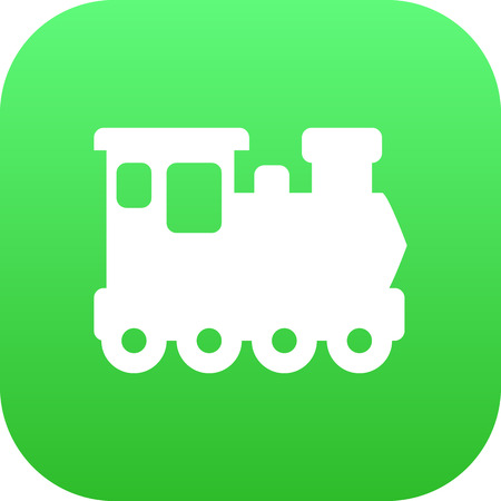 Isolated Train Icon Symbol On Clean Background. Vector Wagon  Element In Trendy Style.