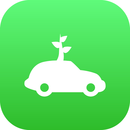 Isolated Ecol Icon Symbol On Clean Background. Vector Car Element In Trendy Style.