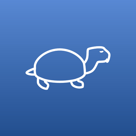 Isolated Tortoise Outline Symbol On Clean Background