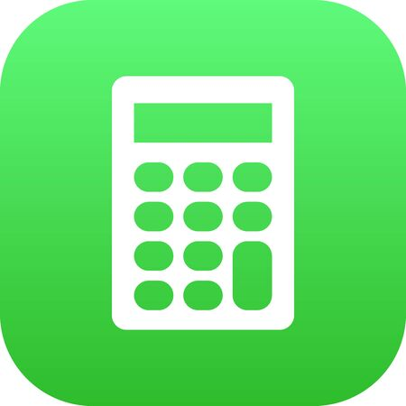 Isolated Calculator Icon Symbol On Clean Background