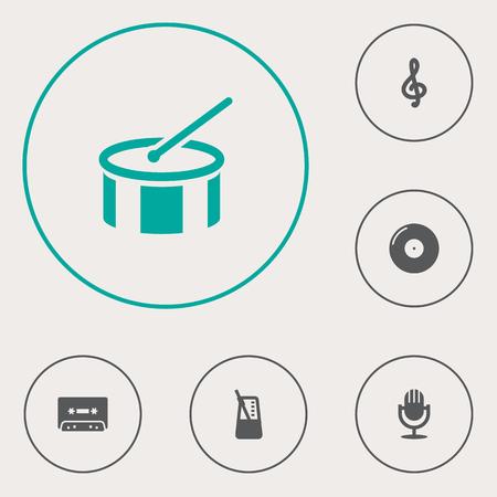 pendulum: Set Of 6 Melody Icons Set