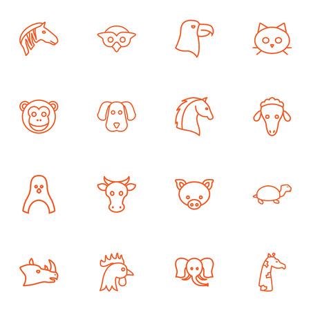 kine: Set Of 16 Zoology Outline Icons Set