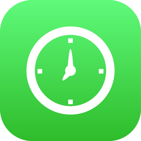 Isolated Clock Icon Symbol On Clean Background. Vector Time Element In Trendy Style.