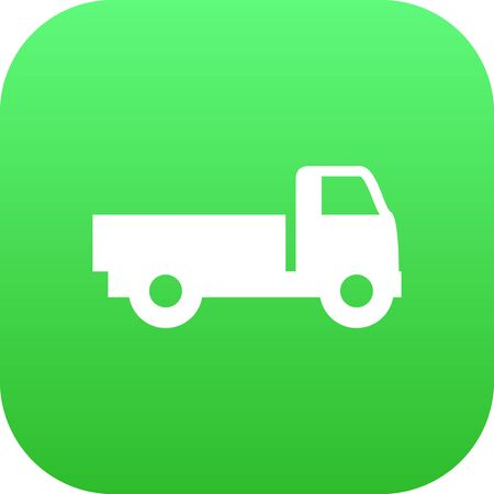 Isolated Truck Icon Symbol On Clean Background. Vector Lorry  Element In Trendy Style. Illustration