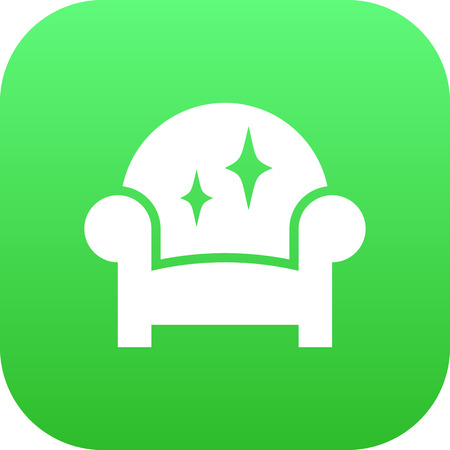 luxury room: Isolated Furniture Icon Symbol On Clean Background. Vector Armchair Element In Trendy Style. Illustration
