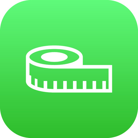 hangers: Isolated Measuring Tape Icon Symbol On Clean Background. Vector Meter  Element In Trendy Style.