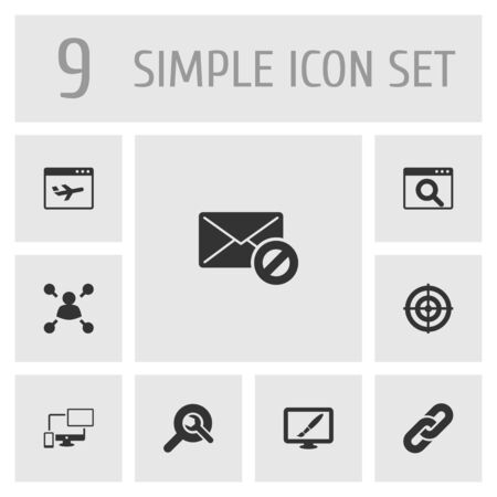 Set Of 9 Engine Icons Set.Collection Of Sale, Design, Search And Other Elements.