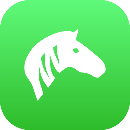 Isolated Zebra Icon Symbol On Clean Background. Vector Horse Element In Trendy Style.