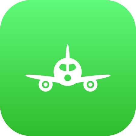 Isolated Airplane Icon Symbol On Clean Background. Vector Aircraft  Element In Trendy Style.