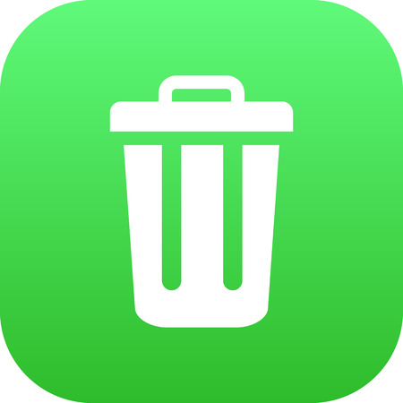 refuse: Isolated Trash Can Icon Symbol On Clean Background. Vector Garbage Container Element In Trendy Style.