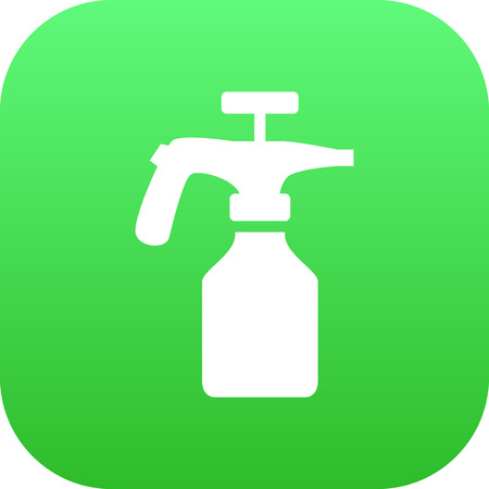 Isolated Atomizer Icon Symbol On Clean Background. Vector Spray Bottle Element In Trendy Style.