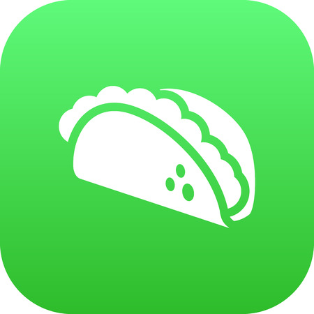 chili sauce: Isolated Tacos Icon Symbol On Clean Background. Vector Mexican Food Element In Trendy Style.
