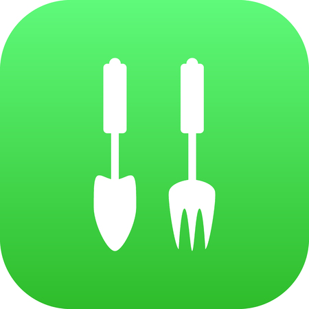 Isolated Garden Instruments Icon Symbol