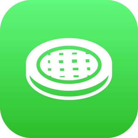 patisserie: Isolated Apple Pie Icon Symbol On Clean Background