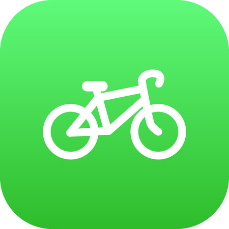 A Vector Bike  Element In Trendy Style.  Isolated Bicycle Icon Symbol On Clean Background. Illustration