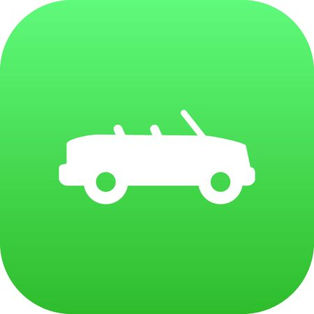 road bike: Isolated Cabriolet Icon Symbol On Clean Background. Vector Coupe  Element In Trendy Style. Illustration