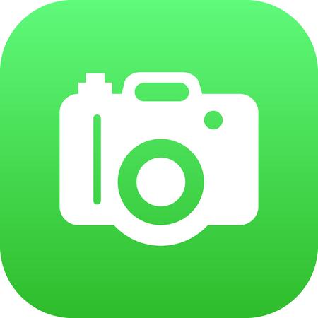 Isolated Dslr Camera Icon Symbol On Clean Background illustration. Çizim