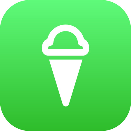 Isolated Ice Cream Icon Symbol On Clean Background