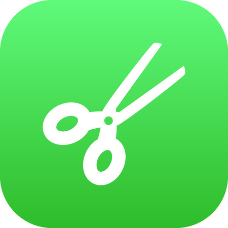 blade: Vector Clippers Element In Trendy Style.  Isolated Scissors Icon Symbol On Clean Background.