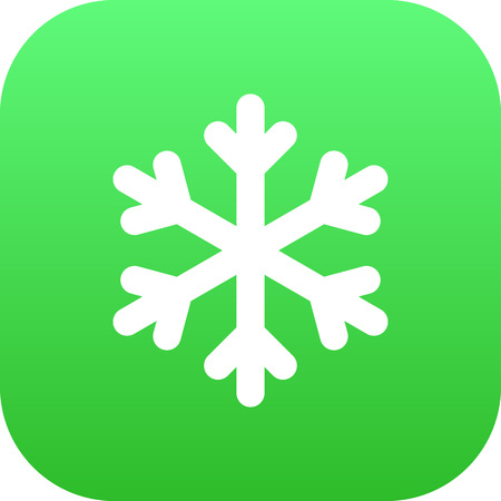 Vector Winter Snow Element In Trendy Style.  Isolated Snowflake Icon Symbol On Clean Background.