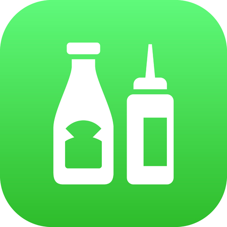 Vector Catsup Element In Trendy Style.  Isolated Sauce Icon Symbol On Clean Background.