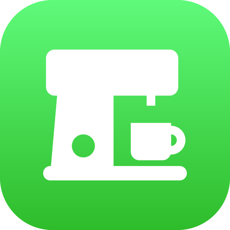 Isolated Coffee Maker Icon Symbol On Clean Background. Vector Espresso  Element In Trendy Style.