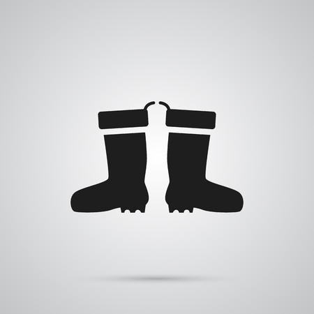 Isolated Waterproof Shoes Icon Symbol On Clean Background. Vector Rubber Boots Element In Trendy Style.
