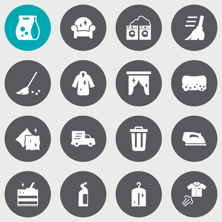 Set Of 16 Harvesting Icons Set.Collection Of Ironing, Iron, Cushion And Other Elements.