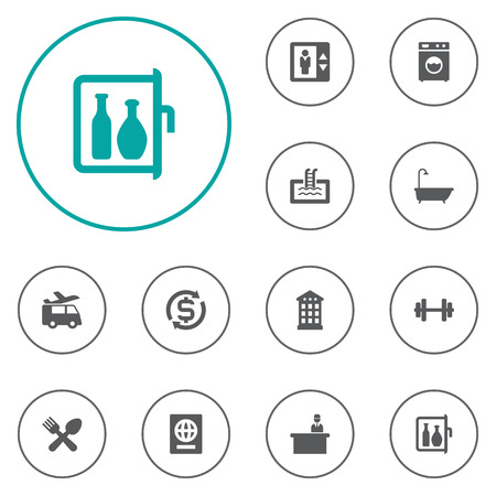 tour operator: Set Of 12 Travel Icons Set.Collection Of Citizenship, Check In, Bathtub And Other Elements. Illustration