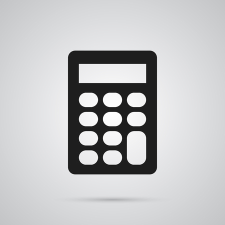 Isolated Calculator Icon Symbol On Clean Background. Vector Calculate Element In Trendy Style. Иллюстрация