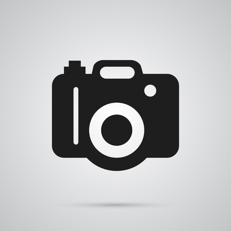 Isolated Dslr Camera Icon Symbol On Clean Background. Vector Photo Element In Trendy Style.