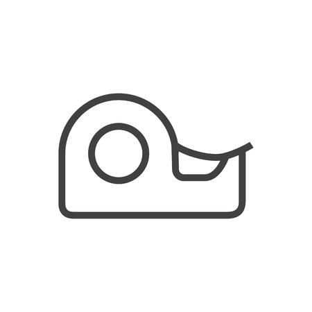 Symbole de contour isolé ruban Scotch sur fond propre. Élément collant de vecteur dans un style branché. Banque d'images - 84044429