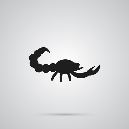 Isolated Scorpion Icon Symbol On Clean Background. Vector Poisonous Element In Trendy Style.
