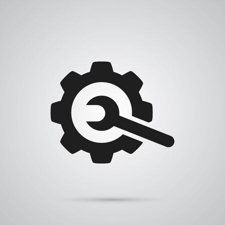 Isolated Repair Icon Symbol On Clean Background. Vector Gear  Element In Trendy Style.