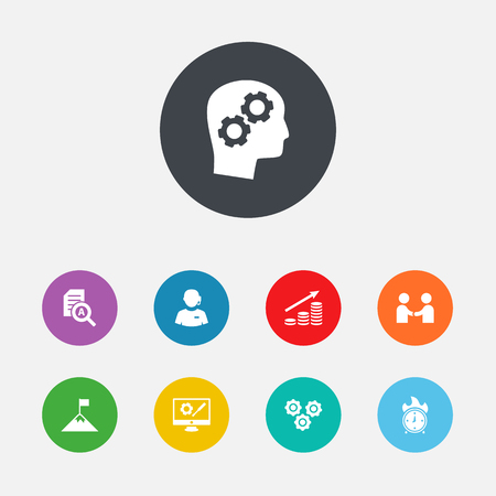 checking: Set Of 9 Idea Icons Set.Collection Of Call Center, Repair Service, Meeting And Other Elements.