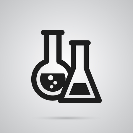 Isolated Chemical Lab Icon Symbol On Clean Background. Illustration