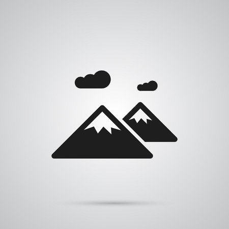 Isolated Mountain Icon Symbol On Clean Background. Vector Pinnacle Element In Trendy Style. Illustration